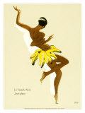 Josephine Baker, Black Thunder - Giclee Baskı