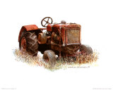 Early Model Oliver Tractor Print by Sharon Pedersen