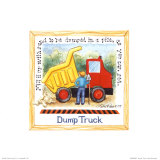 Dump Truck Posters by Lila Rose Kennedy