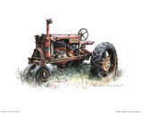 Fr&#252;hes Farmall-Modell Poster von Sharon Pedersen