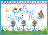 Princess Sleeps Here Poster by Tania Schuppert