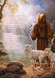 The Lord Is My Shepherd Print by Judy Gibson