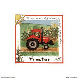 Tractor Poster by Lila Rose Kennedy