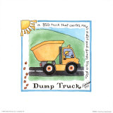 Dump Truck Art by Lila Rose Kennedy