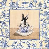 Kaninchen in Teetasse III Poster von Kari Phillips