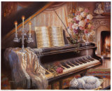 Sonate bei Feuerschein (Kleinformat) Kunstdrucke von Judy Gibson