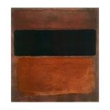 N° 10, marrone, nero, terra di siena su rosso vinaccia, ca. 1963 Poster di Mark Rothko