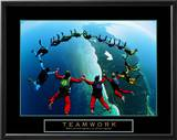 Teamwork - Skydivers II Prints