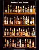 Øl fra hele verden, på engelsk Posters
