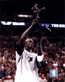 Kevin Garnett - '04 NBA/ MVP Trophy ©Photofile Photo