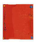 Rød diptykon, ca. 1963  Serigrafi af Max Ackermann