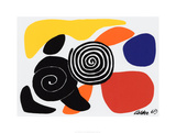 Spirals and Petals, c.1969 Screentryck av Alexander Calder