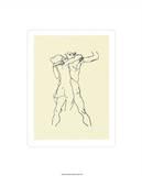 Couple d'Amants Serigraph by Egon Schiele