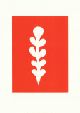 Palme Blanche Sur Fond Rouge, c.1947 Serigraph by Henri Matisse