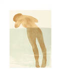 Reclining Female Nude, c.1900 Serigraph by Auguste Rodin