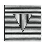 Triangle, c.1980 Silketrykk av Sol Lewitt