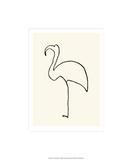 Den rosa flamingoen Silketrykk av Pablo Picasso