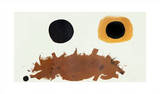 Ochre and Black, c.1962 Serigraph by Adolph Gottlieb