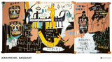 Histoire du peuple noir Poster par Jean-Michel Basquiat