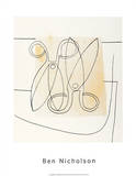 Scissors, c.1968 S&#233;rigraphie par Ben Nicholson