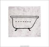 Bath Serigraph by Allan Stevens