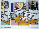 Interior with Skyline, Collage for Painting Verzamelposters van Roy Lichtenstein