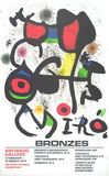 Bronzes Serigraph by Joan Miro