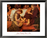 Jesus Washing Peter's Feet Print by Ford Madox Brown