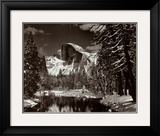 Half Dome, Merced River, Winter Print by Ansel Adams