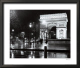 Night - La Tour Arc De Triomphe Print by Toby Vandenack