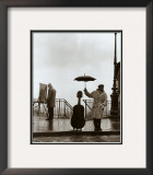 Musician in The Rain Poster by Robert Doisneau
