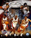 03/&#39;04 Pistons Eastern Conference Champions Composite &#169;Photofile Photo