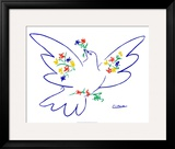 Dove of Peace  Blue Poster by Pablo Picasso