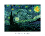 Sterrennacht, ca.1889 Print van Vincent van Gogh