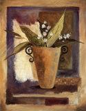 Mosaïque et fleursI Affiche par Carol Robinson