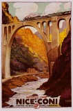 Eisenbahnstrecke Nizza–Coni Poster von  Cassard