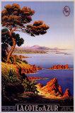 M. Tangry - La Cote d'Azur - Posterler