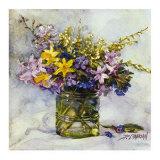 Spring Flowers Print by Deborah Chabrian