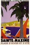 Sainte-Maxime Posters par Roger Broders