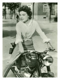 Starlite on Gilera Motorcycle, c.1952 Gicl&#233;e-Druck