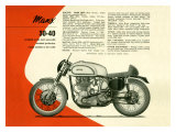 British BSA Manx 30 40 Motorcycle Giclee-vedos