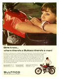 Bultaco Campera Motorcycle Ad Giclee Print