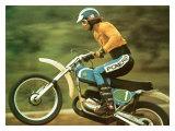 Poster MX de la moto Pursang de Bultaco Impression giclée