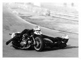 Poster de moto de course: side-car Ducati Impression giclée