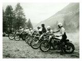Bultaco Motocross Starting Gate Impression giclée