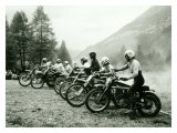 Bultaco Motocross Starting Gate Giclee Print