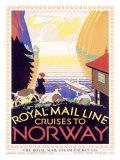 Royal Mail Ocean Line, Norway Giclee Print by  Herrick