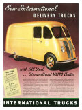 International Streamlined Metro Truck Giclee Print