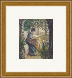 Madame Monet Embroidering, 1875 Prints by Claude Monet