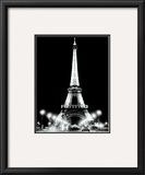 Eiffel Tower at Night Posters by Cyndi Schick